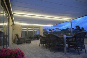Faber pergola markise 110 med lys